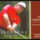 PHIL MICKELSON PGA CROWNE PLAZA PROMOTIONAL GOLF ADVERTISING CARD RYDER CUP