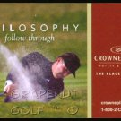 PHIL MICKELSON PGA CROWNE PLAZA HOTEL ADVERTISING PROMOTIONAL CARD RYDER CUP