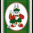 BUGS BUNNY LOONEY TUNES GREEN DESIGN SINGLE PLAYING SWAP COLLECTIBLE GOLF CARD
