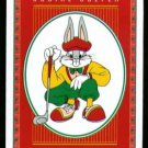 BUGS BUNNY LOONEY TUNES RED DESIGN SINGLE PLAYING SWAP COLLECTIBLE GOLF CARD