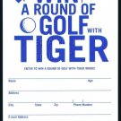TIGER WOODS 2002 UD GOLF ROUND PRIZE ENTRY INSERT SWEEPSTAKES CARD RYDER CUP