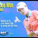 HEE WON HAN 2006 LPGA TOUR ADT CHAMPIONSHIP GOLF FIRST CARD ROOKIE XRC ROY RARE