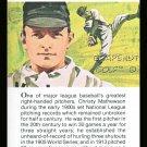 CHRISTY MATHEWSON TRUE VALUE BIG SIX NY GIANTS HOF LEGEND MLB BASEBALL CARD