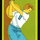 1980's OLD RETRO GOLFER DESIGN SINGLE PLAYING SWAP NARROW COLLECTIBLE GOLF CARD