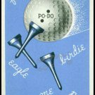 PO-DO PEAU DOUX GOLF BALL ADVERTISING WALGREENS SINGLE PLAYING SWAP CARD BLUE