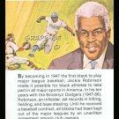 JACKIE ROBINSON TRUE VALUE BROOKLYN DODGERS HOF MLB BASEBALL CARD WORLD SERIES