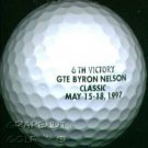TIGER WOODS 6TH VICTORY GTE BYRON NELSON CLASSIC FACSIMILE SIGNATURE GOLF BALL