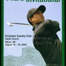 2003 TIGER WOODS NEC INVITATIONAL AMERICAN EXPRESS FIRESTONE PROMO AD RYDER CUP