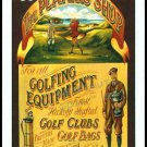 GOLF CLUBS BAGS PLUS FOURS BALLS BRIDGE SINGLE PLAYING SWAP COLLECTIBLE CARD