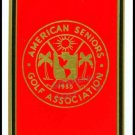 ASGA RED AMERICAN SENIORS GOLF ASSOCIATION SINGLE PLAYING SWAP COLLECTIBLE CARD