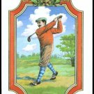 FRAMED GOLFER GUY WILLIAM EARLE ARTIST SINGLE PLAYING SWAP COLLECTIBLE GOLF CARD