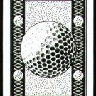 VINTAGE GOLF BALL BLACK DESIGN SINGLE PLAYING SWAP COLLECTIBLE NARROW CARD