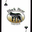 BLACK BEAR GOLF CLUB MYRTLE BEACH SINGLE PLAYING SWAP COLLECTIBLE CARD