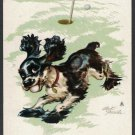 JOKER COCKER SPANIEL BUTCH DOG STAEHLE GOLF THIEF NO AD SINGLE PLAYING SWAP CARD