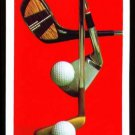RETRO FANCY FACE GOLF CLUBS RED SINGLE PLAYING SWAP COLLECTIBLE POKER CARD