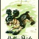 COCKER SPANIEL BUTCH DOG STAEHLE GOLF THIEF CALIFORNIA SINGLE PLAYING SWAP CARD