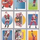 SANTA CLAUS 1991 TUFF STUFF CHRISTMAS GIFT STOCKING STUFFER SPORTS 9 CARD SET