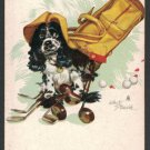 STAEHLE COCKER SPANIEL DOG BUTCH ACE of DIAMONDS GOLF SINGLE PLAYING SWAP CARD