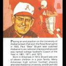 PAUL BEAR BRYANT TRUE VALUE ALABAMA CRIMSON TIDE FOOTBALL CARD HOF
