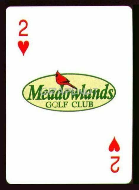 MEADOWLANDS GOLF CLUB MYRTLE BEACH SINGLE PLAYING SWAP COLLECTIBLE CARD