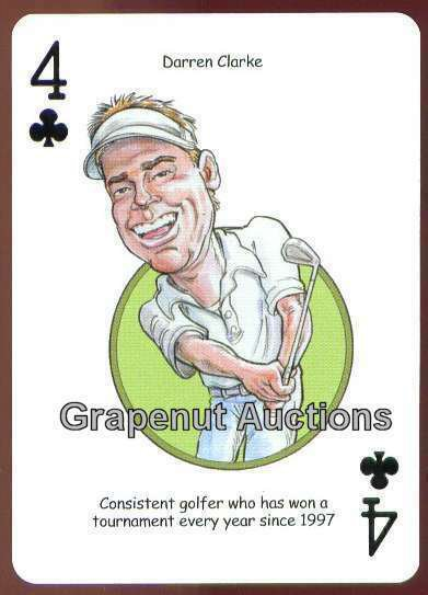 DARREN CLARKE BRITISH OPEN PGA TOUR CHAMPION GOLF SINGLE PLAYING SWAP CARD