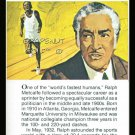 RALPH METCALFE TRUE VALUE WORLD RECORD OLYMPIC TRACK & FIELD CARD