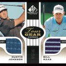 2012 DUSTIN JOHNSON BILL HAAS UD SP TOUR GEAR COMBO TG2 JH #11/35 RYDER CUP