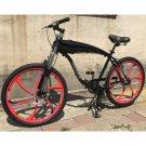 GT-2B 26 Inch Gas Bike w/2.4L Gas Frame(black frame with red wheel)
