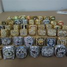 50 pcs 1966 to 2015 All Year Super Bowl champions Championship Ring togethe