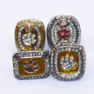 Drop shipping 4pcs/set Clemson Tigers National Championship Ring Set-in Rin