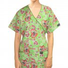 PRINTED SCRUB SET 4 POCKET LADIES HALF SLEEVE (2 POCKET TOP AND 2 POCKET PANT)