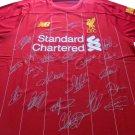 Liverpool 19/20 Team Signed Jersey Auto Incl Salah