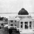"30"" Wide Black & White Panoramic Photo of  Calcasieu Parish Court House 1923 Lake Charles, LA"