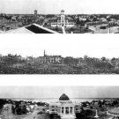 Three Panoramic Photos Of  Fire  of 1910,  Courthouse & City Hall Lake Charles, LA