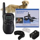 328 Yard Waterproof Rechargeable Pet Dog Training Collar 100LV Shock Vibration