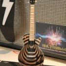 ZAKK WYLDE Vertigo Natural Wood Custom 1:4 Scale Replica Guitar ~New~