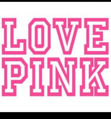 Download Love Pink Victoria Secret vinyl decal sticker