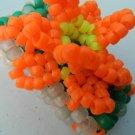 Orange 3d Daisy on Kandi Cuff Bracelet EDC Rave