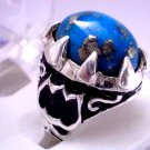 Men Turquoise Ring in 925 Sterling Silver Handmade