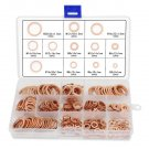 280pcs Flat Copper Washer Assortment Kits Set