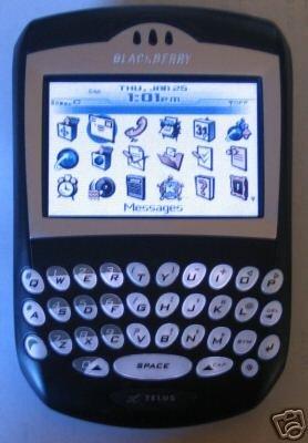 Used Verizon Blackberry 7250 PDA cell phone