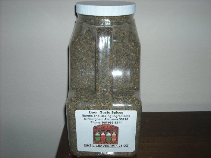 basil leaves whole 32 oz jar  $17.75--spices seasonings & herbs