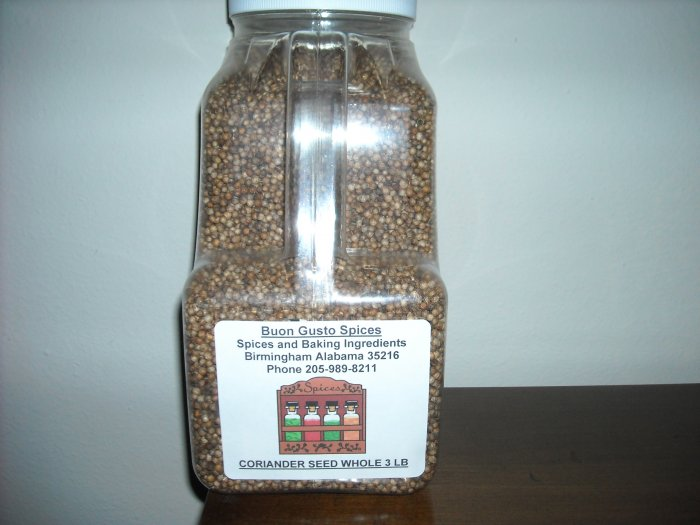 Coriander seed whole 3 LB JAR  $22.95 --spices seasonings & herbs