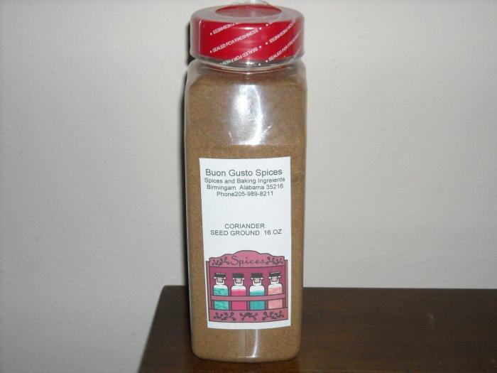 Coriander ground 16 oz jar  $11.99--spices seasonings & herbs
