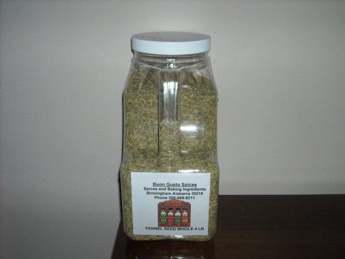 fennel seed whole 4 lb jar  $13.95
