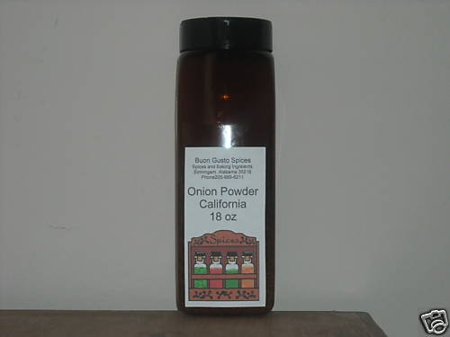 onion powder california 18 oz JAR  $11.99--spices seasonings & herbs