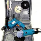 2 Pcs Electric Tool Kit - Hammer Drill\Grinder (No Warranty)