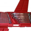 16 Pcs High Polished Combination Wrench - Metric