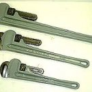 3 Pcs Aluminum Pipe Wrench Set -