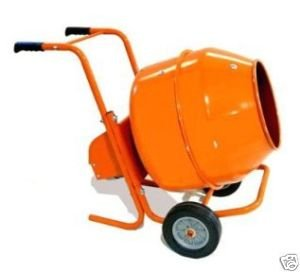 5 CuFt Wheelbarrow Style Electric Cement Mixer